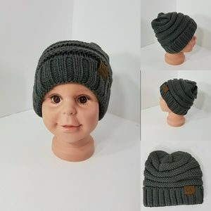 Other - Baby Beanie hats thermal protective Dark Gray